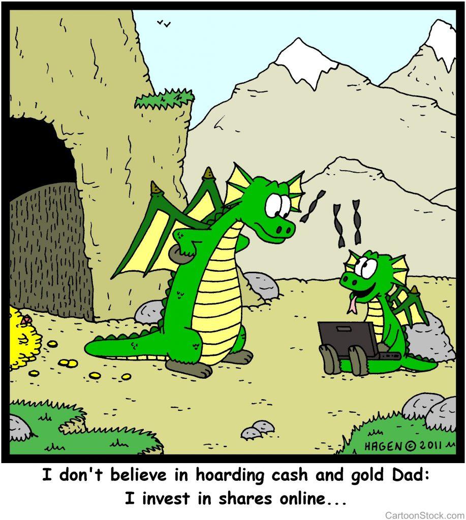 Dragon shares online