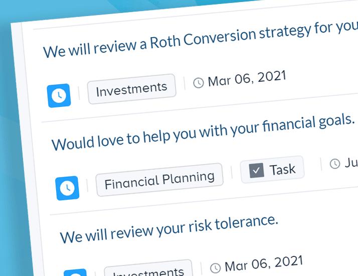 automatically create tasks in crms financial advisor pulse360